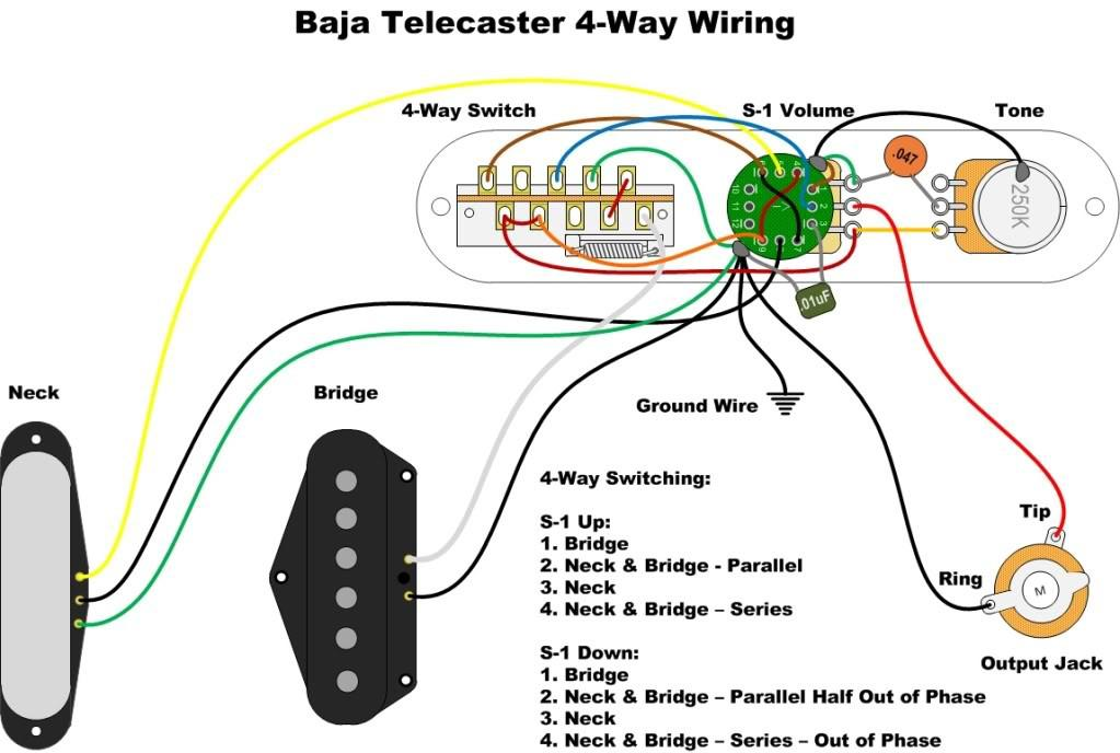 Diagrams  Telecaster 4    Way    Baja     920D Custom