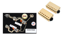 Duncan SH-18 Whole Lotta Humbucker Set, Gold + Free ES-335 Page Wiring Harness