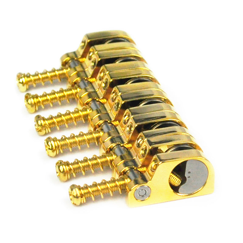 Babicz Full Contact Hardware Strat T-Swivel Saddle Kit, Gold