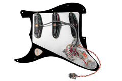 920D Custom Fiesta Polyphonics Loaded S-Style Pickguard Black 2 Toggle