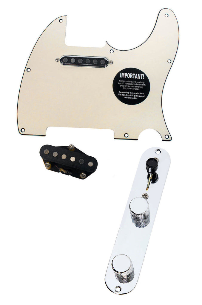 920D Fender Telecaster Loaded Pickguard TV Jones Tele Pickups T4W Cream