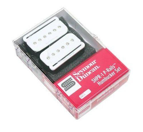 Seymour Duncan 11303-03-W SHPR-1s P-Rails Humbucker Pickup Set, White