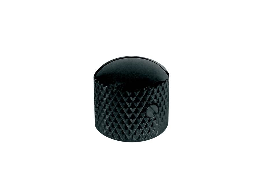 920D Custom MK-1B Knurled Metal Dome Knob, Black