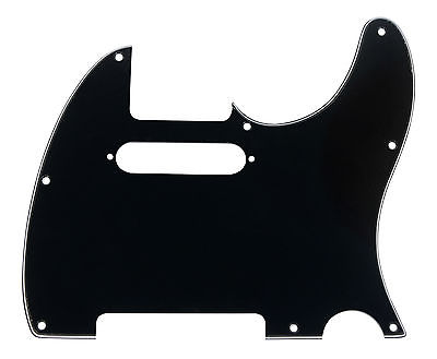 920D CS Black 3 Ply Strat Cut Pickguard for Fender Tele CNC Precision Cut