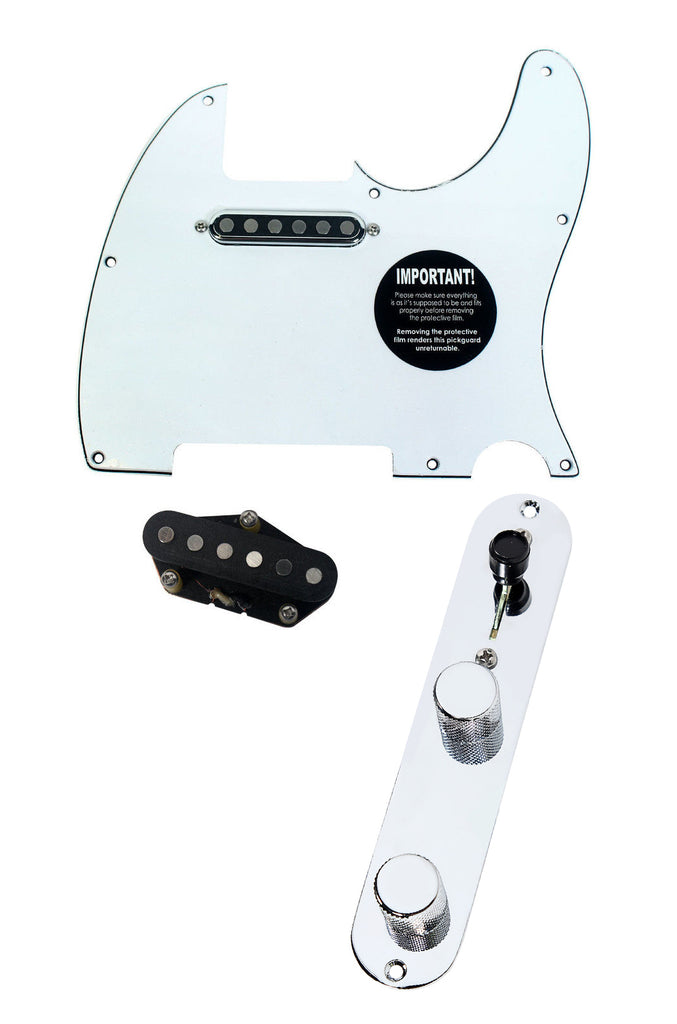 920D Fender Telecaster Loaded Pickguard TV Jones Tele Pickups T4W WH