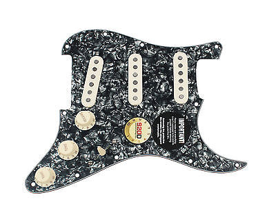 920D Custom Texas Vintage Pre-Wired Loaded SSS Pickguard Black Pearl / Aged White