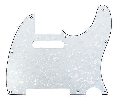 920D Custom 8-Hole Precision CNC Cut T Style Pickguard, White Pearl