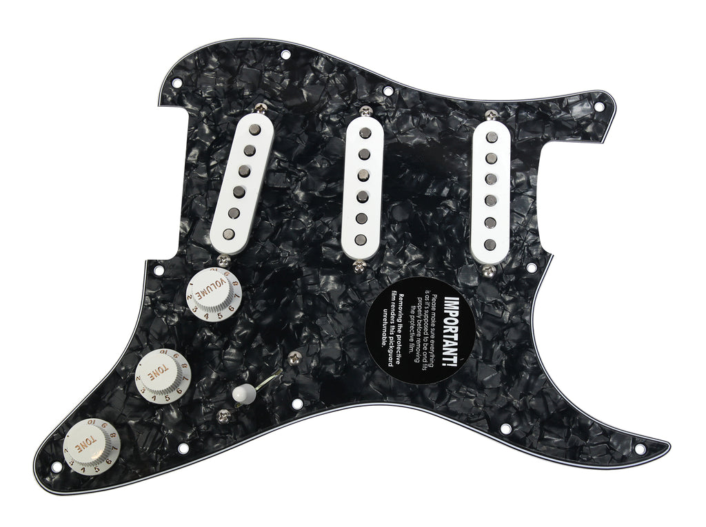 920D Custom Seymour Duncan SSL-1 Loaded Pickguard SSS Black Pearl / White