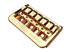 Babicz Full Contact Hardware Fixed 6-String Hardtail Bridge, Gold