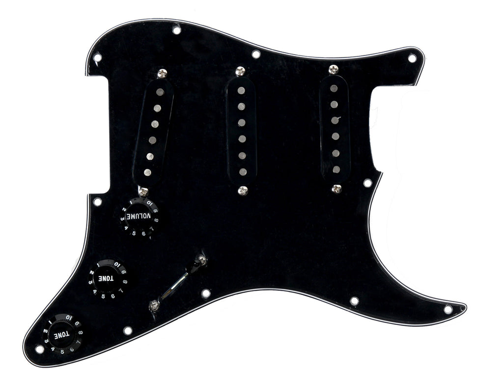 920D Custom Texas Vintage Pre-Wired Loaded SSS Pickguard Black / Black
