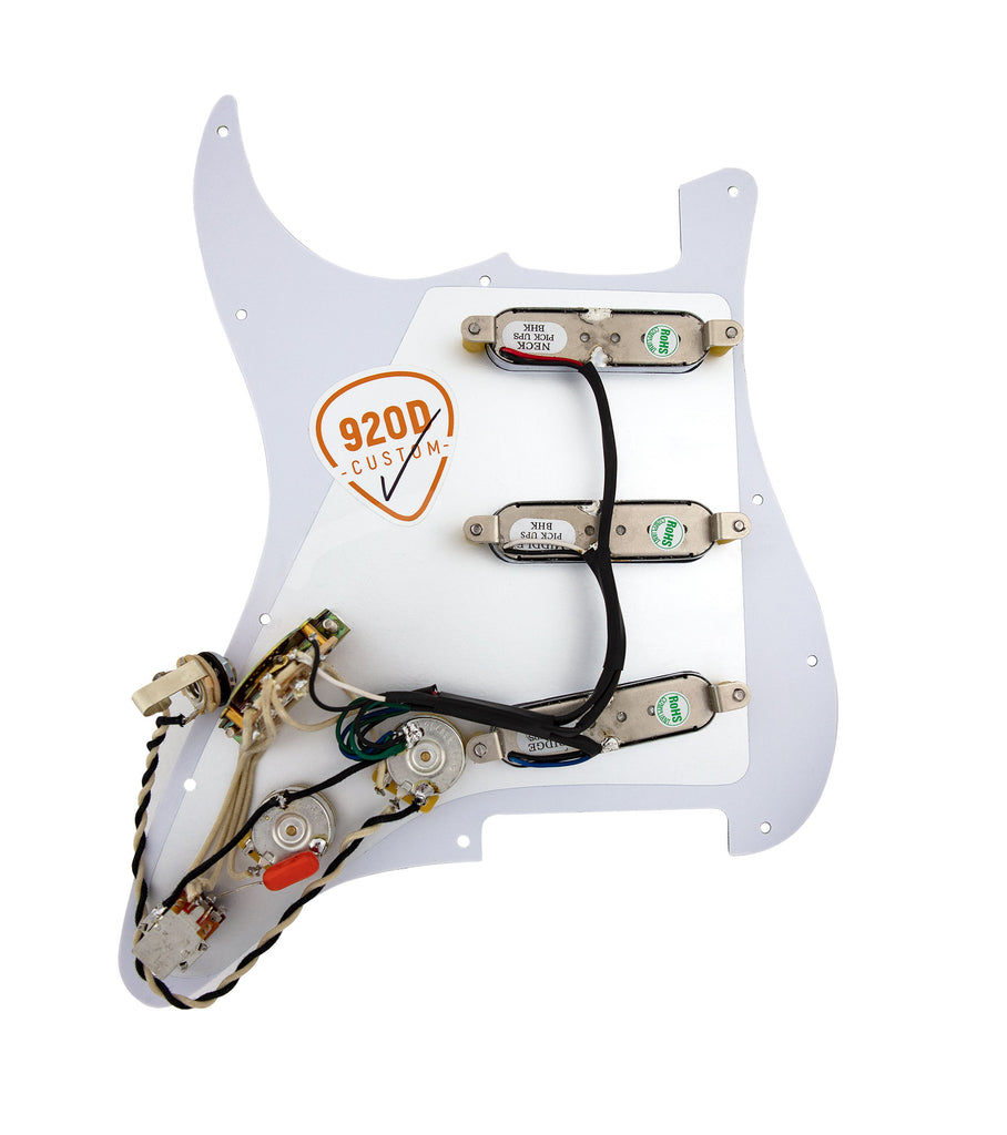 920D Custom Burns Mini Tri-Sonic 7-Way Loaded Pickguard