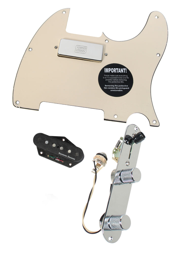 Fender Tele Telecaster Loaded Pickguard Duncan STK-T3B, SM-1 Pickups CR