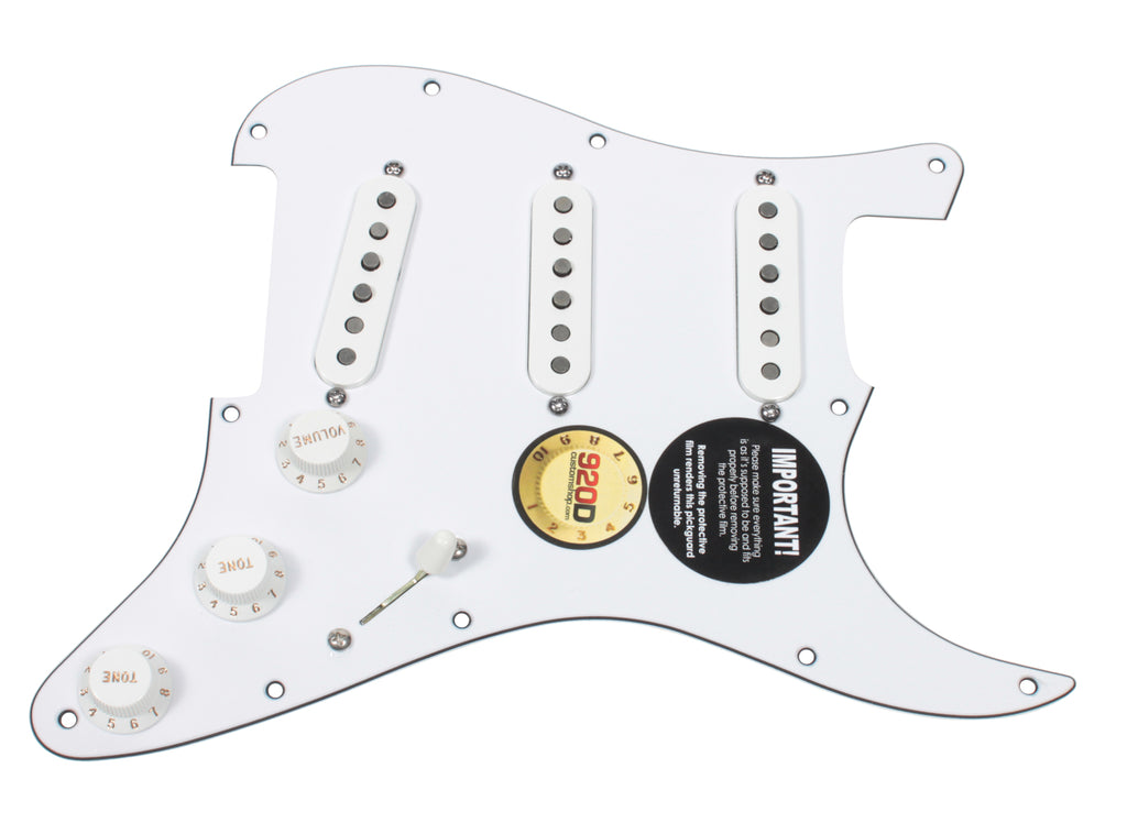 Fender Tex-Mex 920D Loaded Pre-wired Strat Pickguard WH/WH