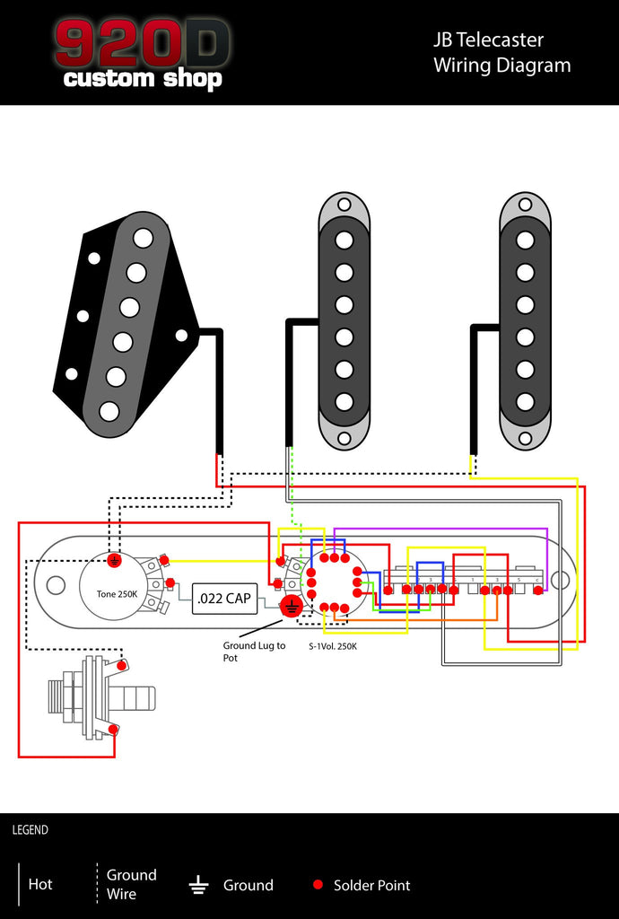 Fender Tele Telecaster James Burton Loaded 5 Way Control Plate with ...
