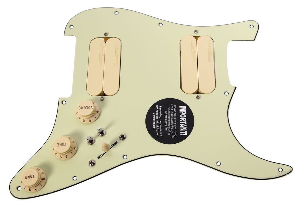 920D Lace Sensor Gold HH Splittable Dually Strat Loaded Pickguard MG/AW