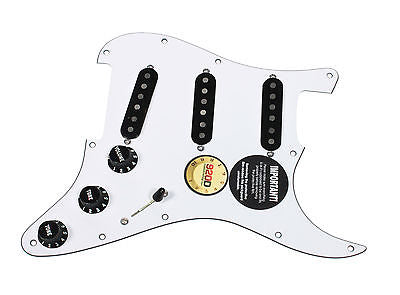 920D Custom Texas Vintage Pre-Wired Loaded SSS Pickguard White / Black