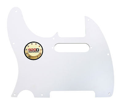 920D Custom White 3 Ply T Style Cut Pickguard for S Style Neck CNC Precision Cut