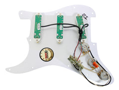 920D Loaded Stratocaster Pickguard Duncan Duckbucker/Lil' Screamin' Demon WH/WH