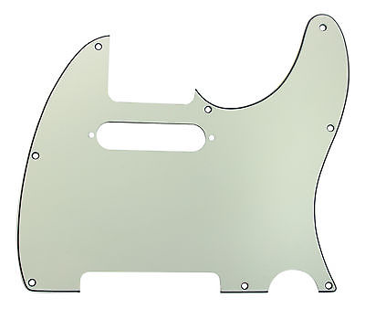 920D Custom Mint Green 3 Ply T Style Cut Pickguard w/ S Style Neck CNC Precision Cut