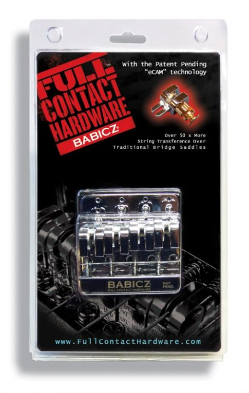 Babicz Full Contact Hardware 4 String Bass Bridge, Chrome