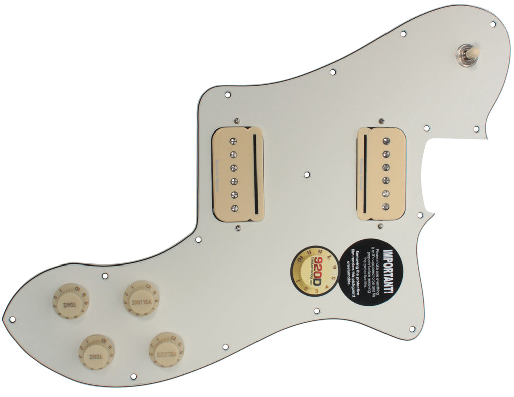 920D Custom Seymour Duncan P-Rails Loaded '72 T-Style Deluxe Pickguard Parchment