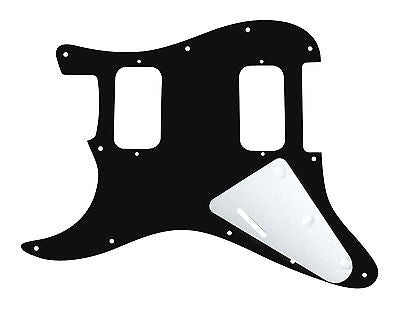 920D Custom 11-Hole HH Precision CNC Cut S Style Pickguard, Black Pearl