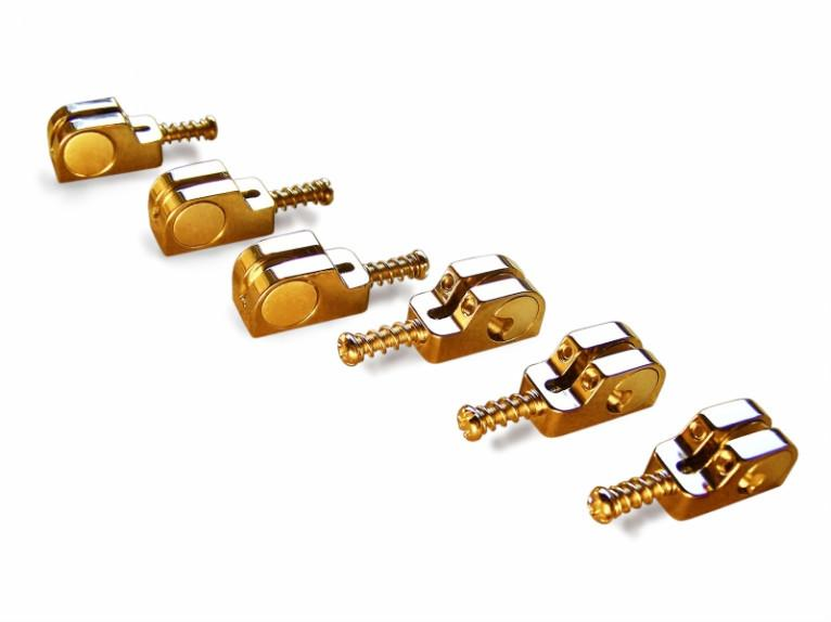 Babicz Full Contact Hardware Guitar Saddle Kit, Gold