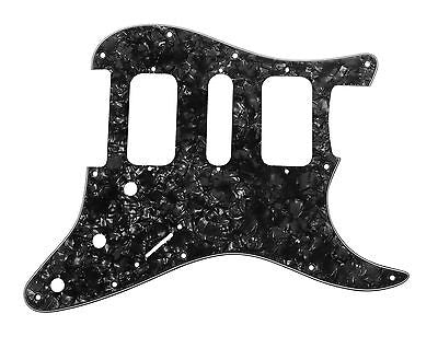 920D Strat 3 Ply HSH Pickguard Fender Stratocaster CNC Cut, Black Pearl