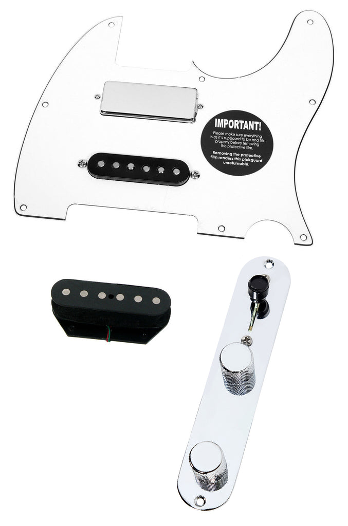 920D Fender Brent Mason Nashville Tele Loaded Pickguard DiMarzio Area, White