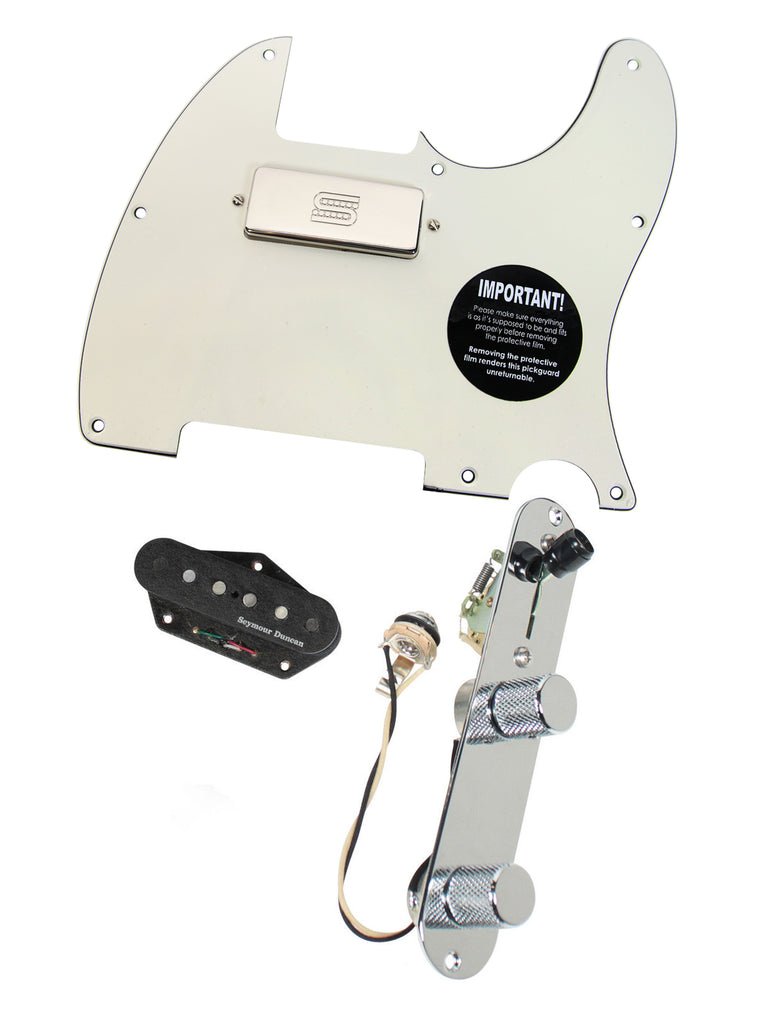 920D Custom Seymour Duncan Vintage Stack / SM-1n Mini Humbucker Loaded T Style Pickguard w/ T3W-C, 3-Ply Parchment