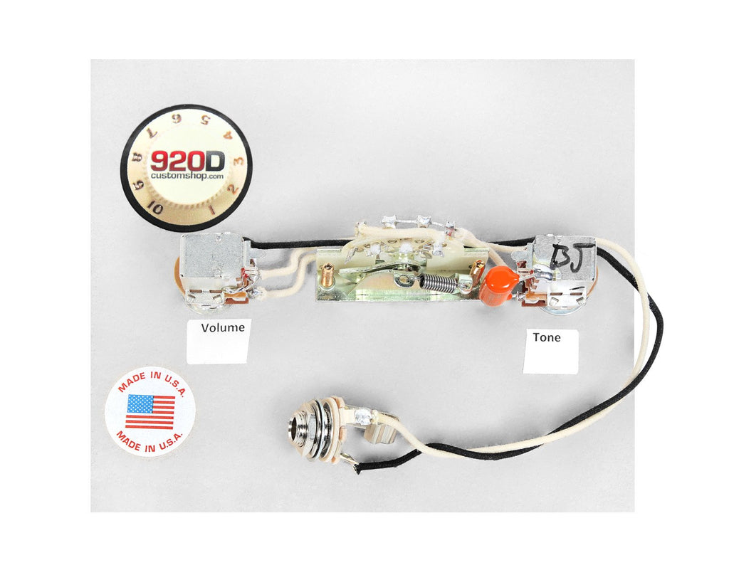 920D Wiring Harness for Brian Moore i200 Series HSH Guitars – 920D ...