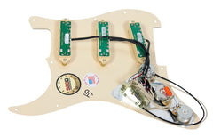 920D Custom Shop Duncan Rails Loaded Stratocaster Strat Pickguard 2 Toggle BS/WH