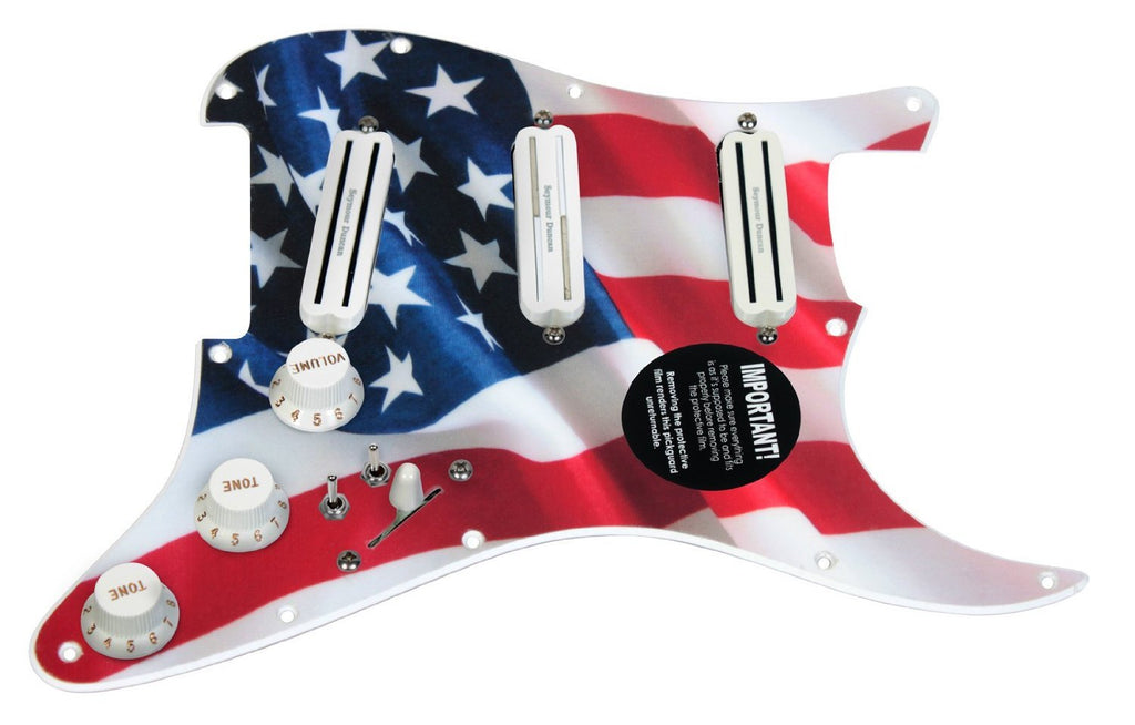 920D Custom Duncan Rails Loaded S Style Pickguard 2 Toggle SS/WH