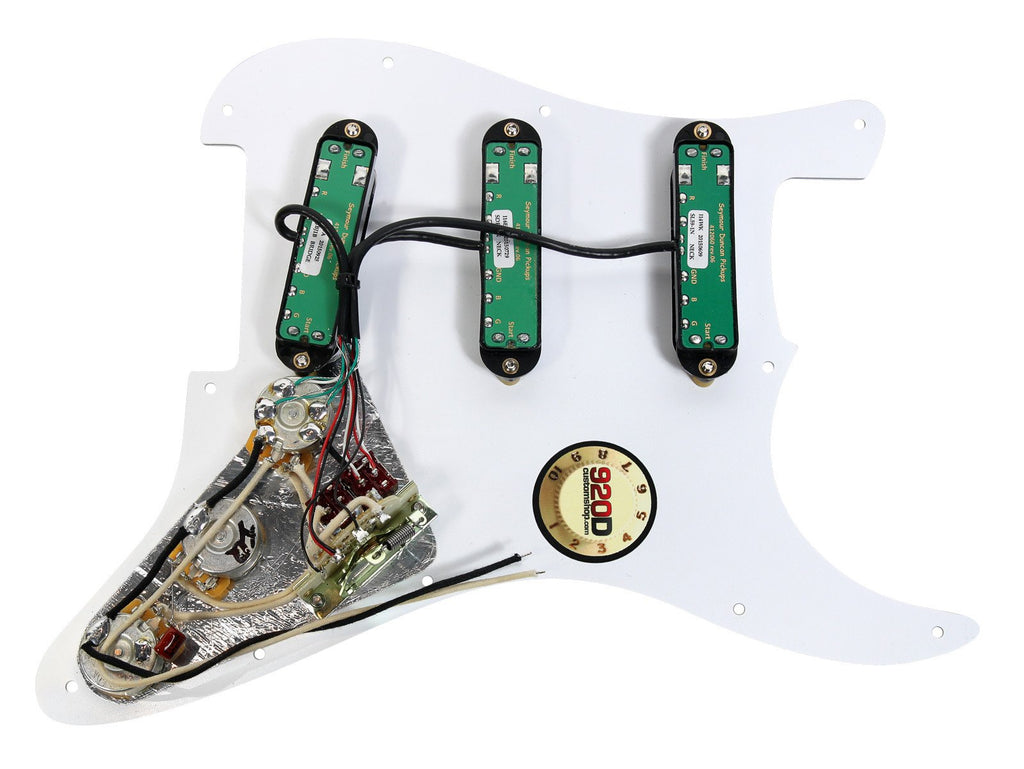 920d Custom Shop Duncan Everything Axe Fender Strat Loaded Pickguard L 7 Way Hsh Wiring Harness For Left Hand