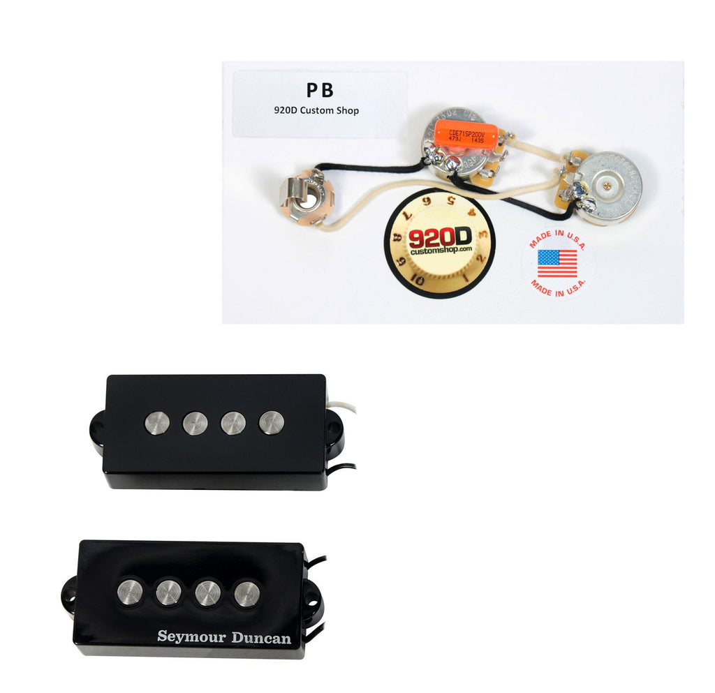 Seymour Duncan SPB-3 Fender P Bass Guitar Pickup Black + Harness