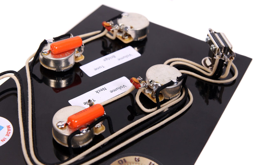 920D Custom IB-AS73 Upgraded Modern Wiring Harness for Ibanez AS73 w/ Treble Bleeds and Orange Drop Capacitors