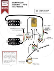 920D Custom Shop Gibson Epiphone 1958 Explorer Wiring Harness CTS Switchcraft