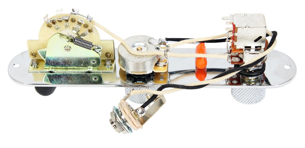 920D Custom T3W-SPLIT-C Upgrade 3-Way Telecaster Control Plate w/ Coil Splitting Push/Pull, Chrome