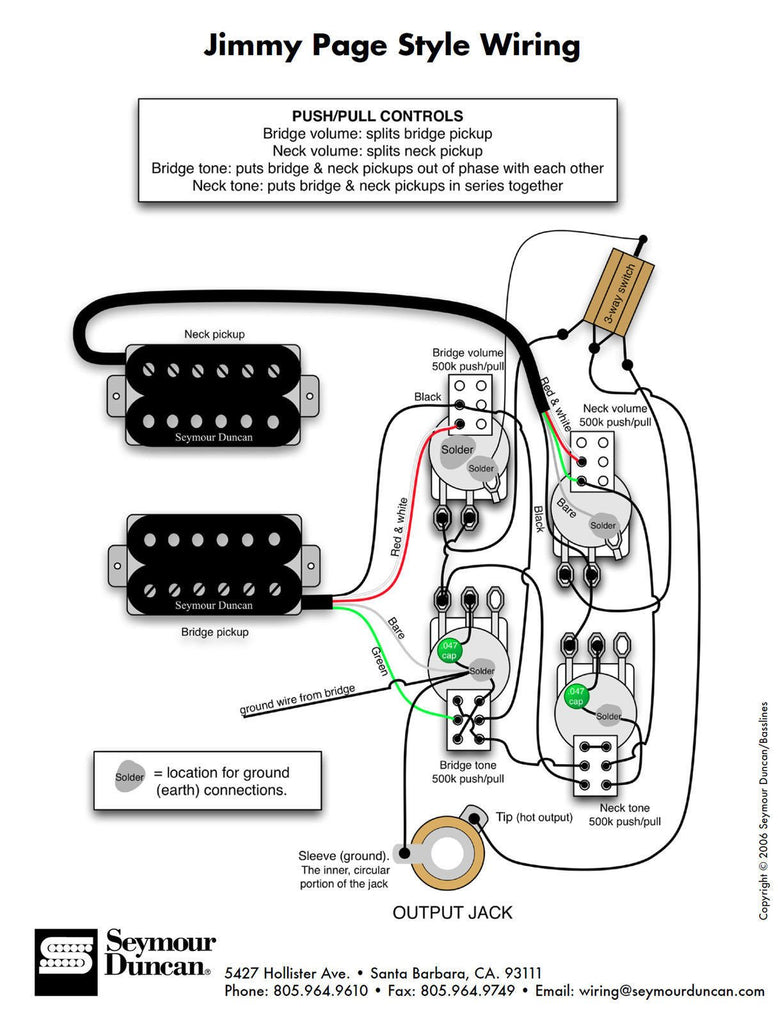 Whole Lotta Humbucker Wiring Diagram Schemes Archtop Duncan Sh 18 Set Gold Lp Page T Dimarzio