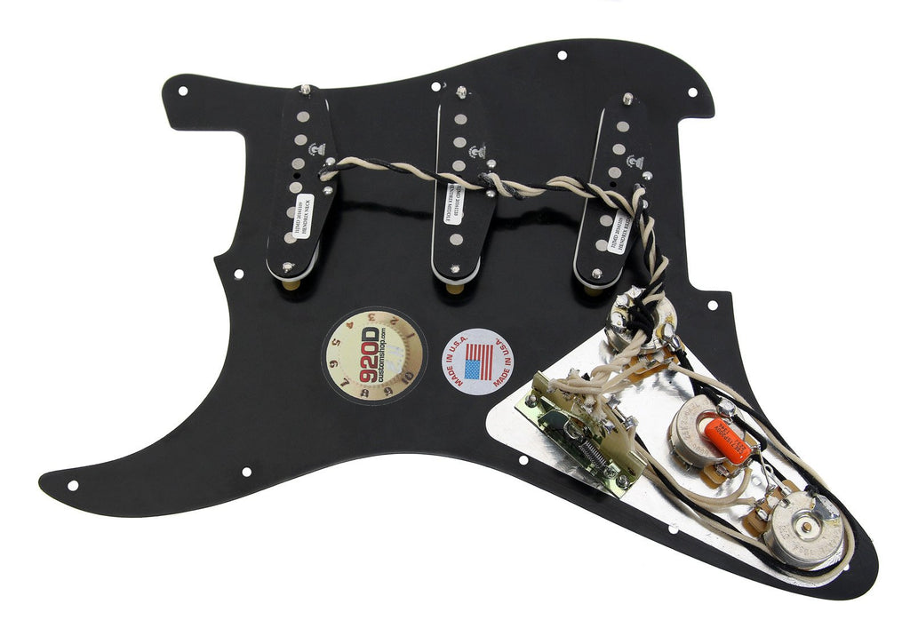 920d loaded pickguard stratocaster strat jimi hendrix duncan 5 way bk 920d custom. Black Bedroom Furniture Sets. Home Design Ideas