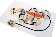 920D Custom RIC-B Wiring Harness for Mono Rickenbacker 4000 Series Basses, Solid Shaft Pots + Orange Drop .047uF Caps