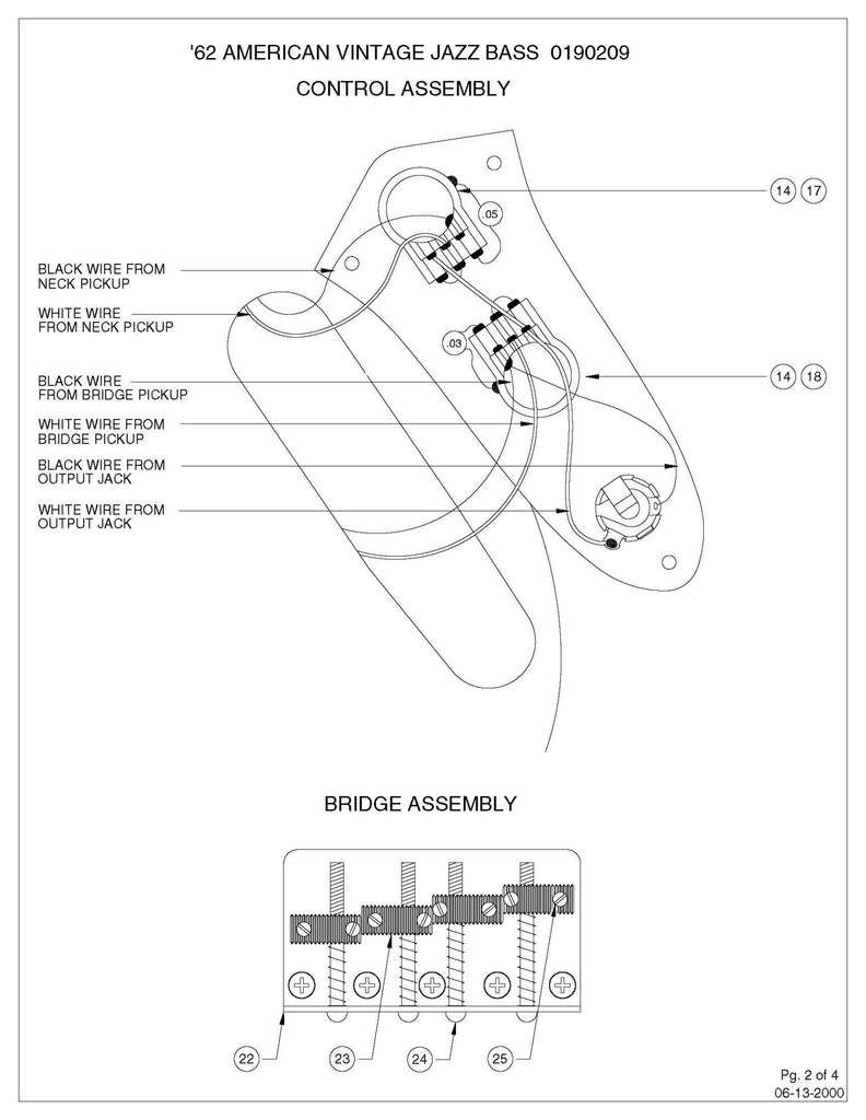Fender Deluxe Active Jazz B Wiring Diagram - Home Wiring Diagrams on