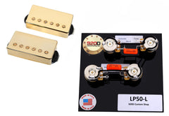 Duncan Saturday Night Special Humbucker Pickup Set, Gold + LP50 Wiring Harness