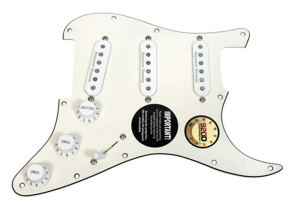 920D Shop Duncan Vintage/Classic/Custom Stack Loaded Strat Pickguard 7 Way PA/WH