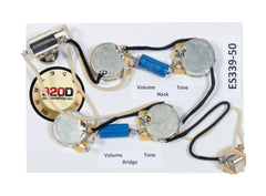 920D ES-339 50's Wiring Harness for Gibson CTS Switchcraft PIO Paper In Oil
