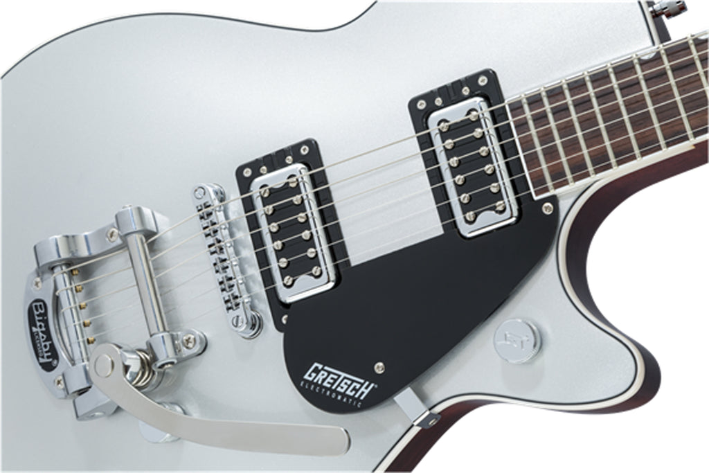 G5230T ELECTROMATIC® JET™ FT SINGLE-CUT WITH BIGSBY®, BLACK WALNUT FINGERBOARD, AIRLINE SILVER