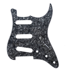 920D Custom 11-Hole SSS Precision CNC Cut S Style Pickguard, Black Pearl