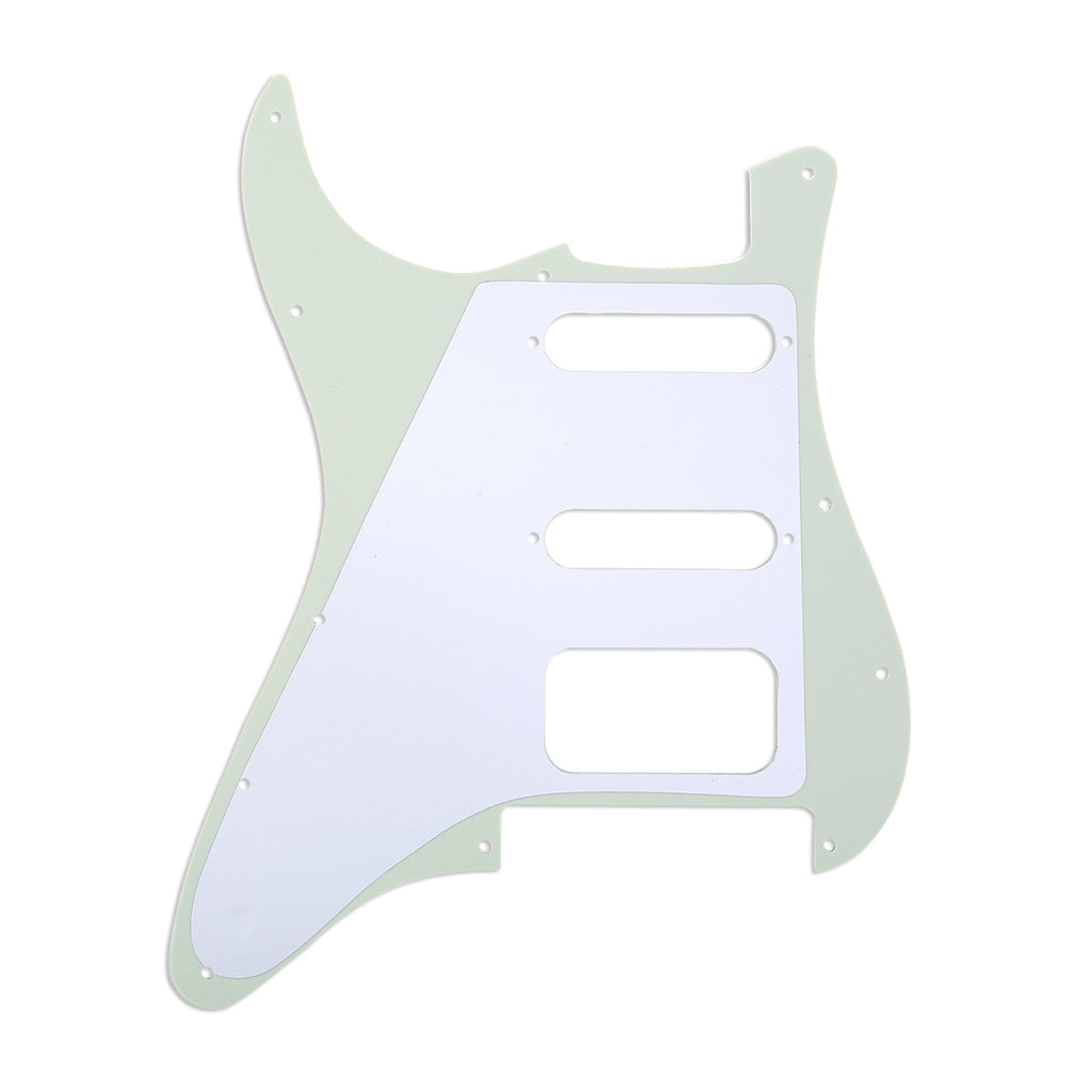 920D Custom 11-Hole HSS Precision CNC Cut S Style Pickguard, 3-Ply Mint Green
