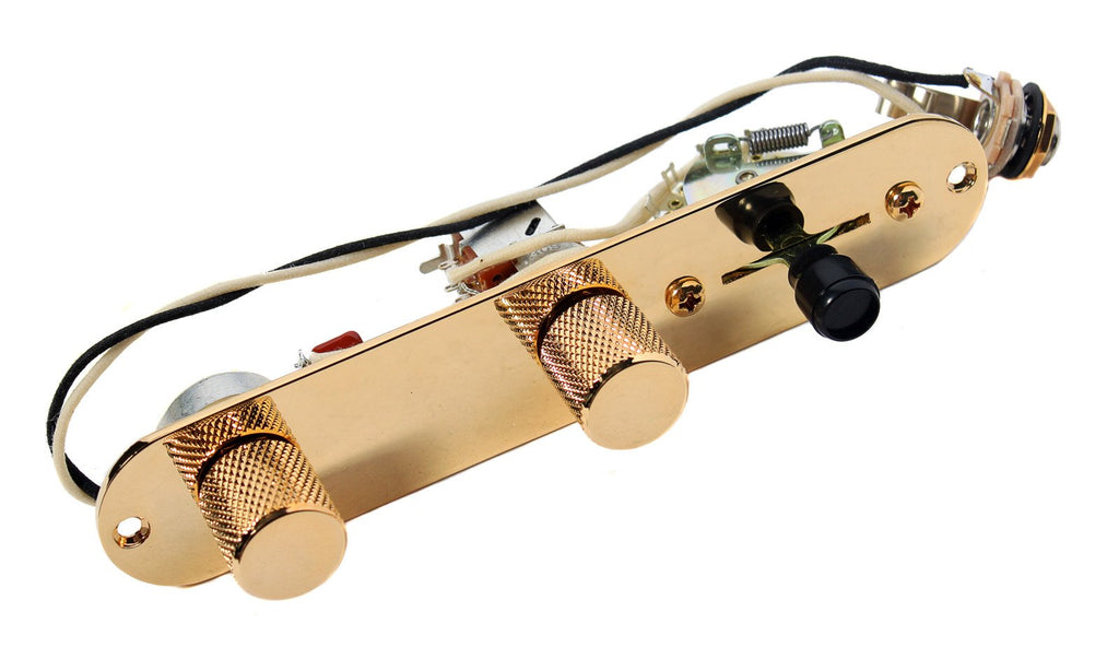 Fender Telecaster 7-Way Reverse Loaded Control Plate, Gold - CTS - CRL Switch