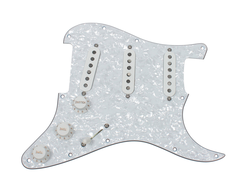 920D Custom Fender Tex Mex Loaded Stratocaster Pickguard w/ 5-Way, WP/WH